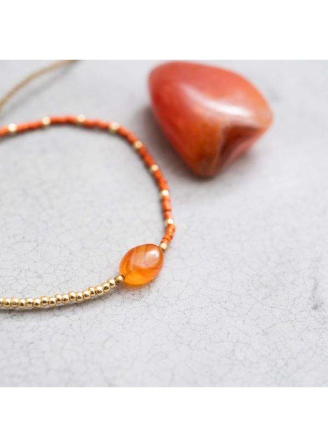Armband Ruby Carnelian Gold Bracelet