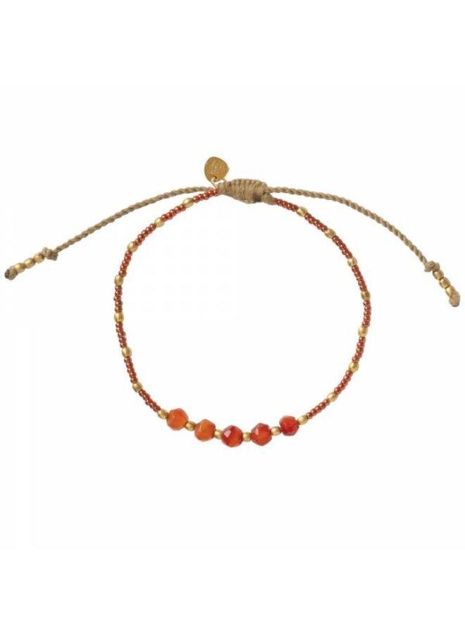 Armband Family Carnelian Gold Bracelet
