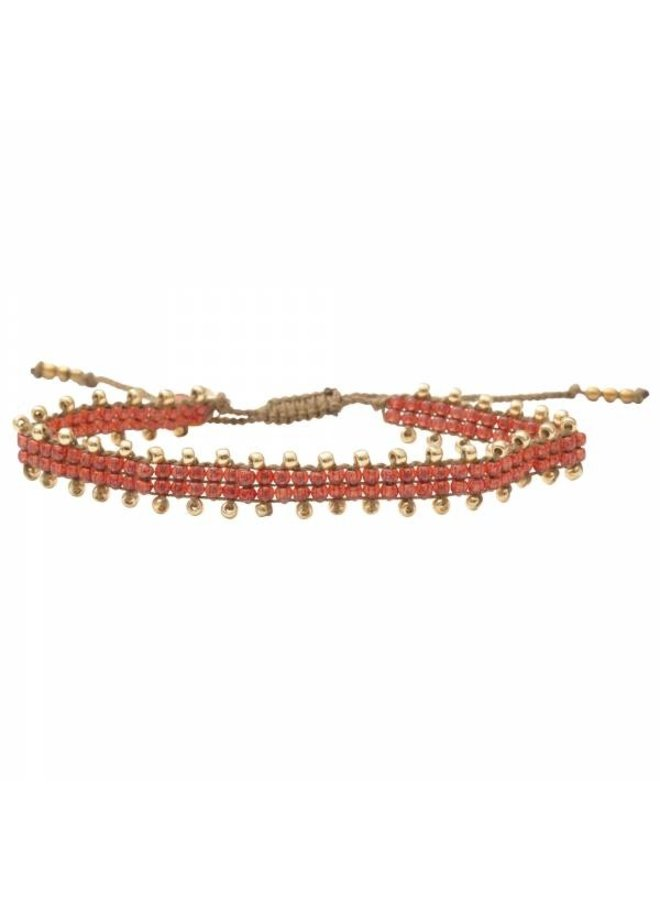 Armband Happiness Carnelian Gold Bracelet