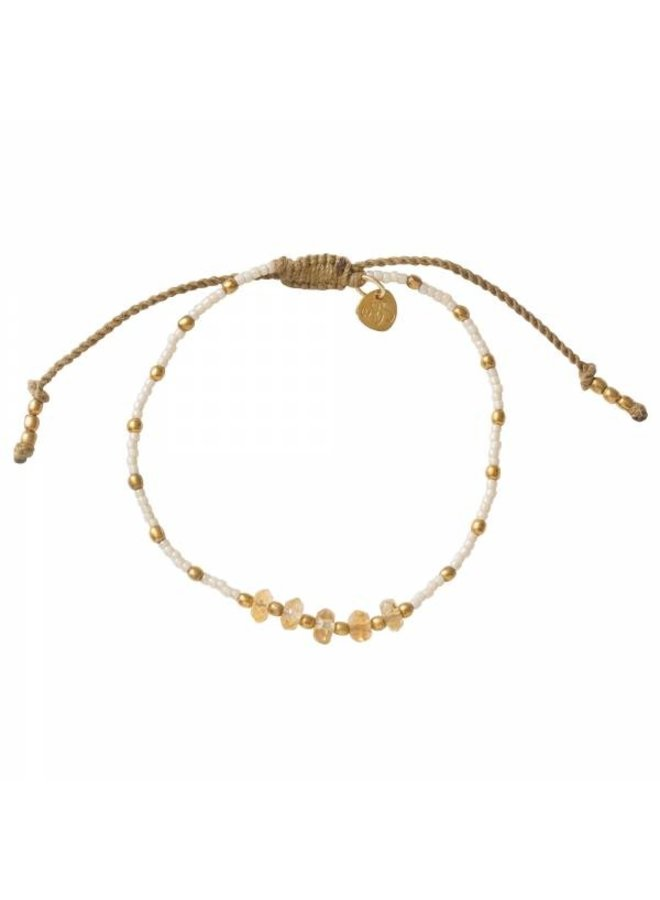 Armband Family Citrine Gold Bracelet
