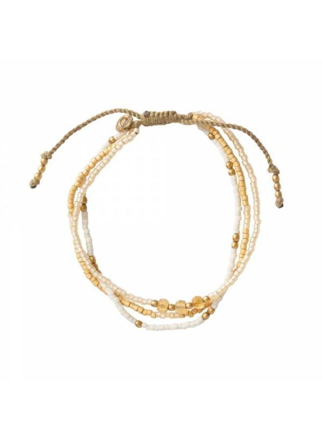 Armband Gentle Citrine Gold Bracelet