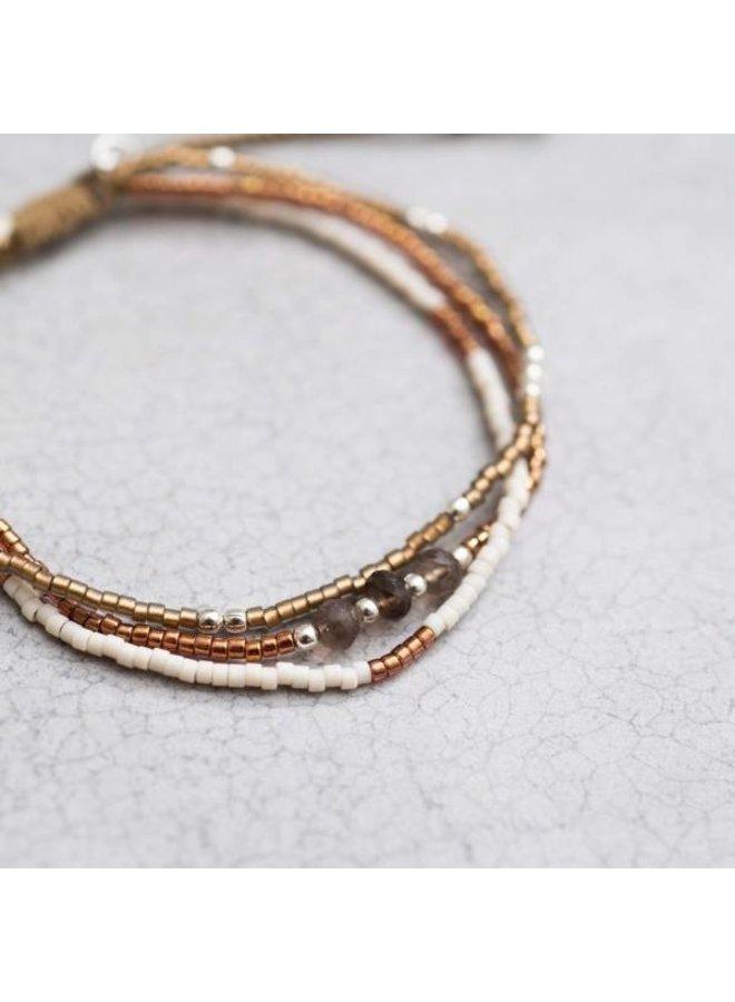 Armband Gentle Smokey Quartz Silver Bracelet