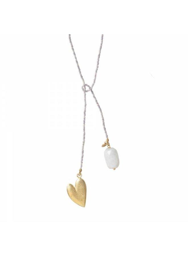 Ketting Nova Moonstone Gold Necklace
