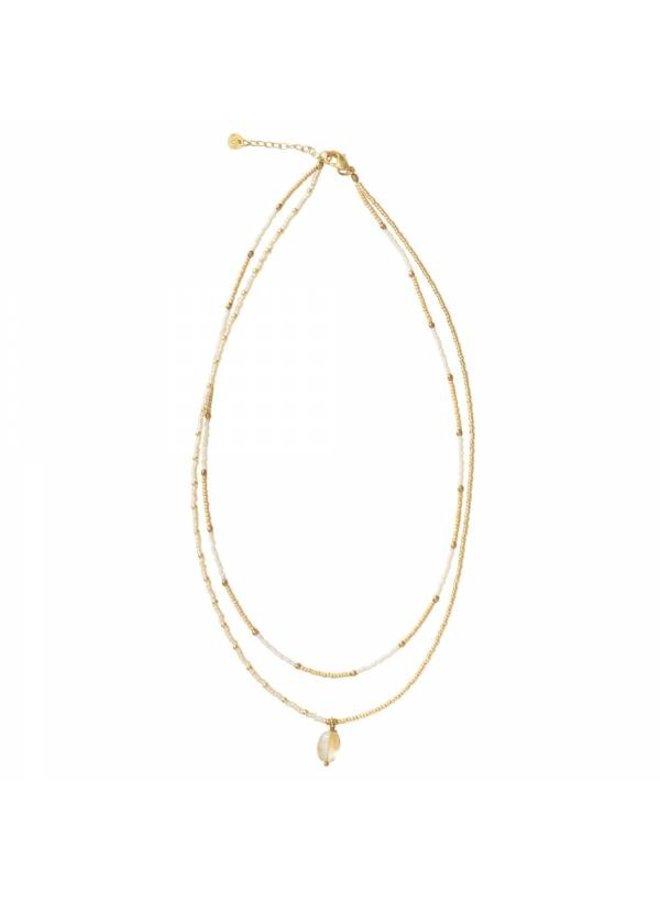 Ketting Rainbow Citrine Gold Necklace