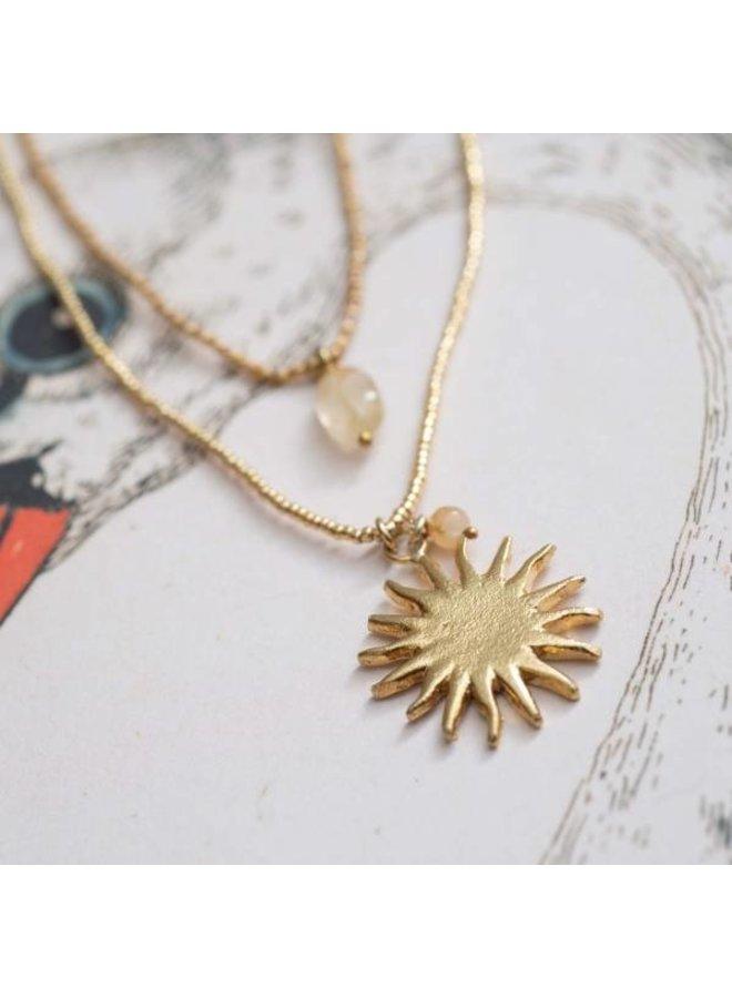 Ketting Paradise Citrine Gold Necklace