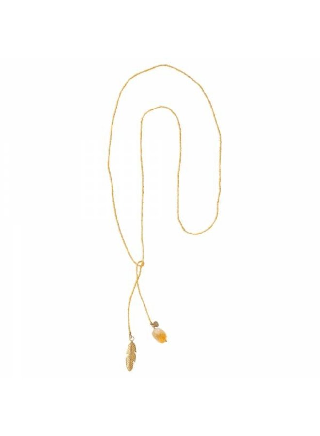 Ketting Nova Citrine Gold Necklace