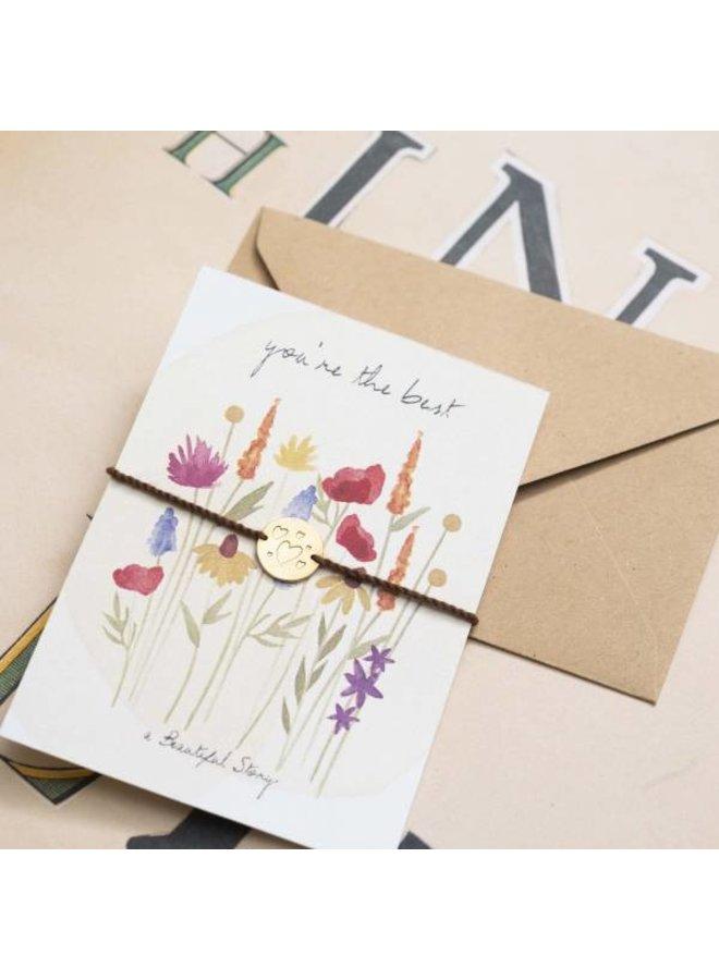 Armband Jewelry Postcard Flower Field