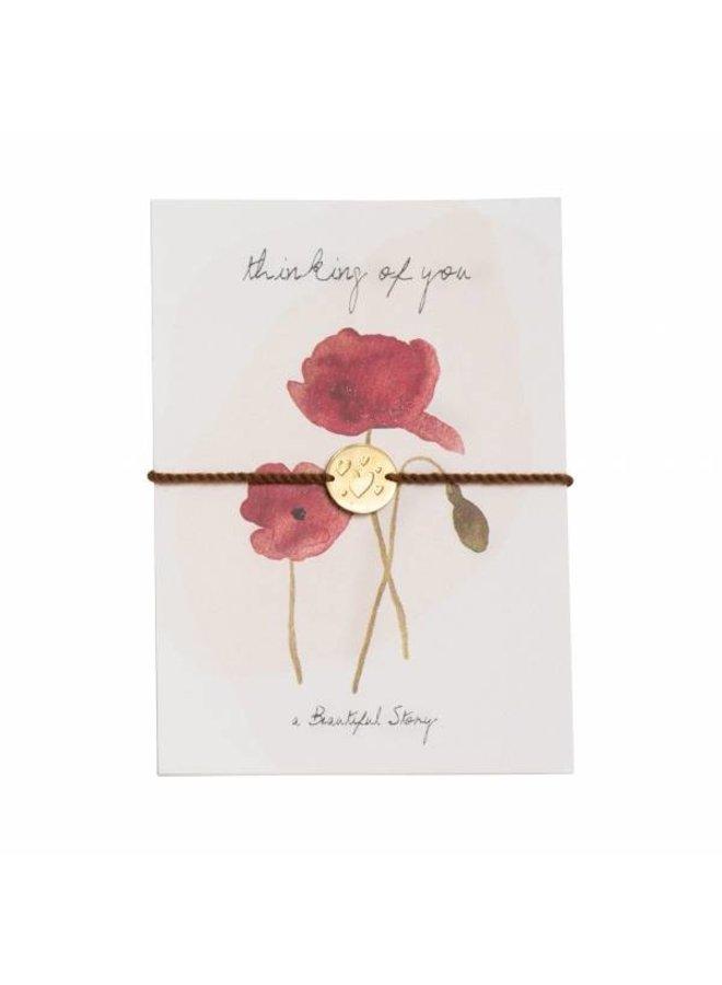 Armband Jewelry Postcard Poppy