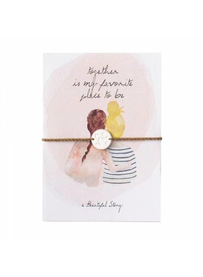 Armband Jewelry Postcard Two Friends