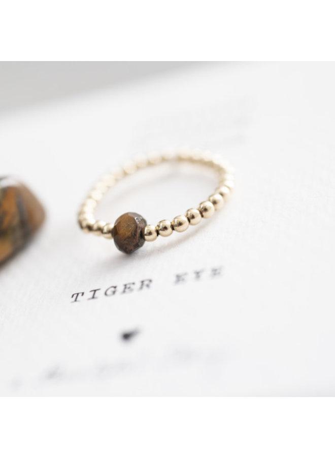 Ring Sparkle Tiger Eye Ring S/M