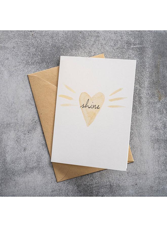 Kaart Greeting Card Loveshine