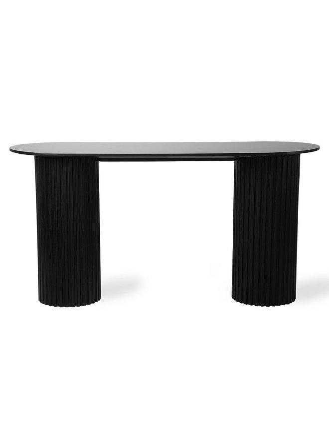 Kantoortafel pillar side oval 140x50x72cm Black