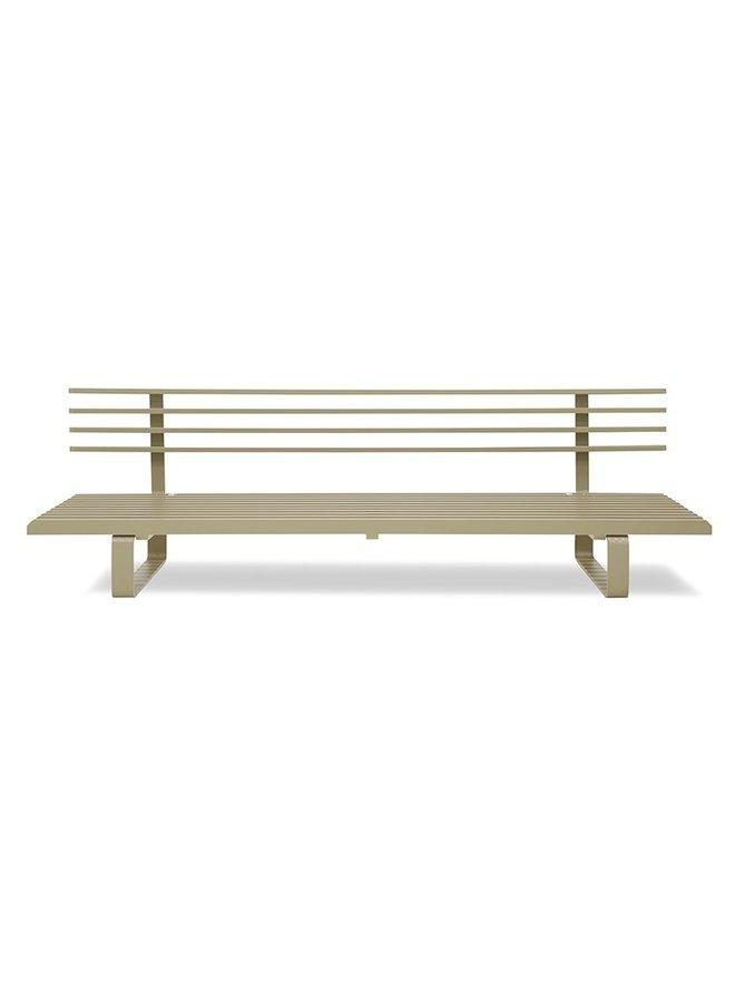 Bank aluminium outdoor lounge sofa olive
