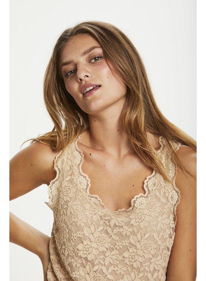Top BrendaCR lace top sesame