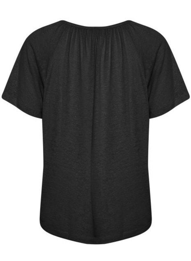 Top CRLuna t-shirt pitch black