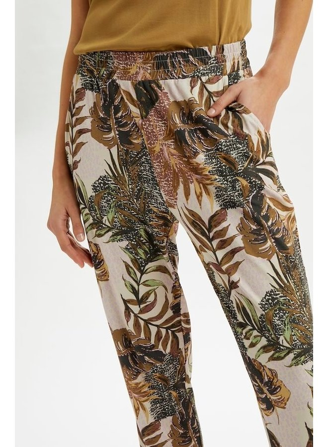 Broek CRCindy jersey pant dull gold jungle