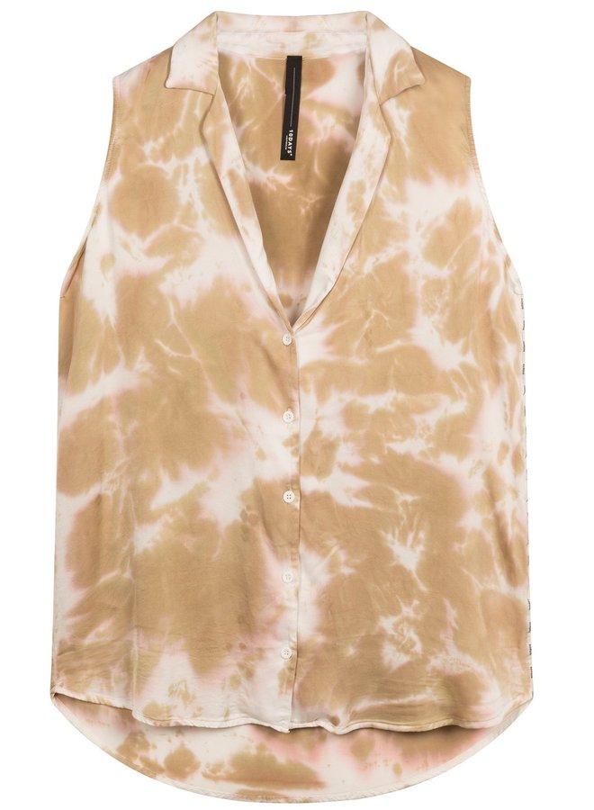 Blouse top tie dye gold
