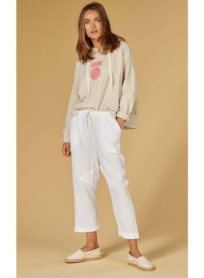 Broek pants crinkle white