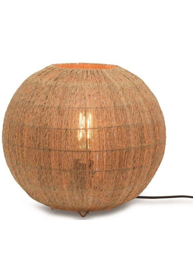Tafellamp Iguazu jute globe naturel L