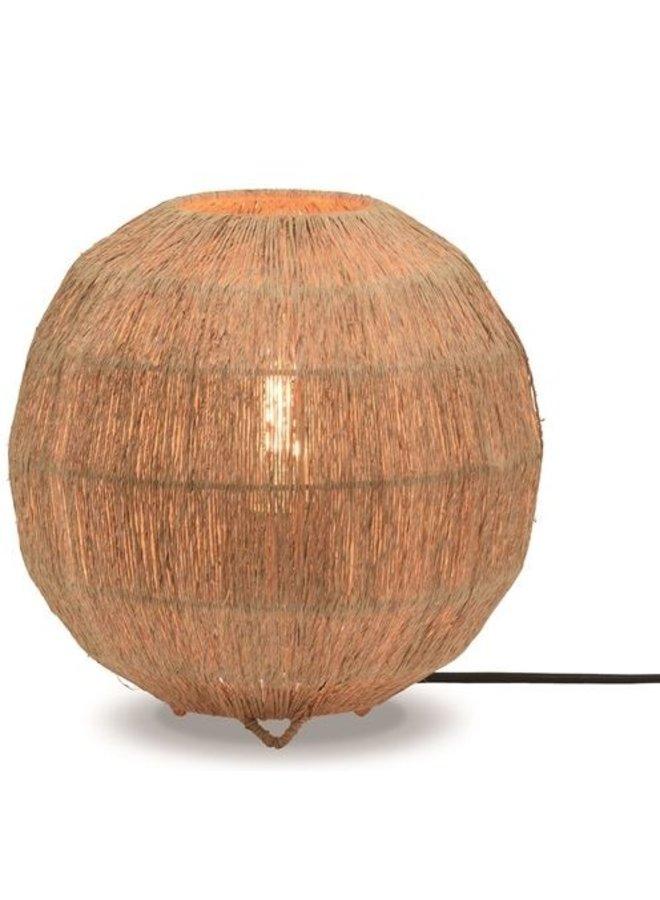 Tafellamp Iguazu jute globe naturel S
