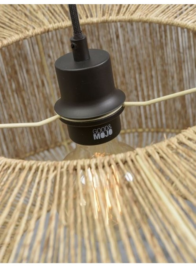 Plafondlamp Iguazu jute round naturel S