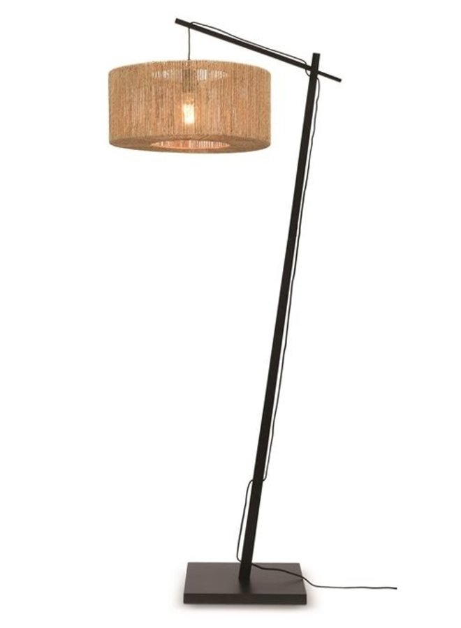 Vloerlamp Iguazu black/naturel S
