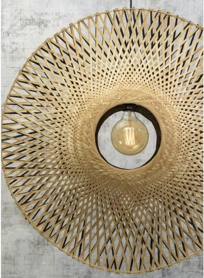 Hanglamp Kalimantan vertical black/naturel L
