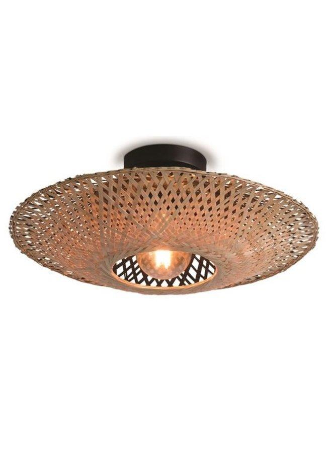 Plafondlamp Kalimantan black/naturel M
