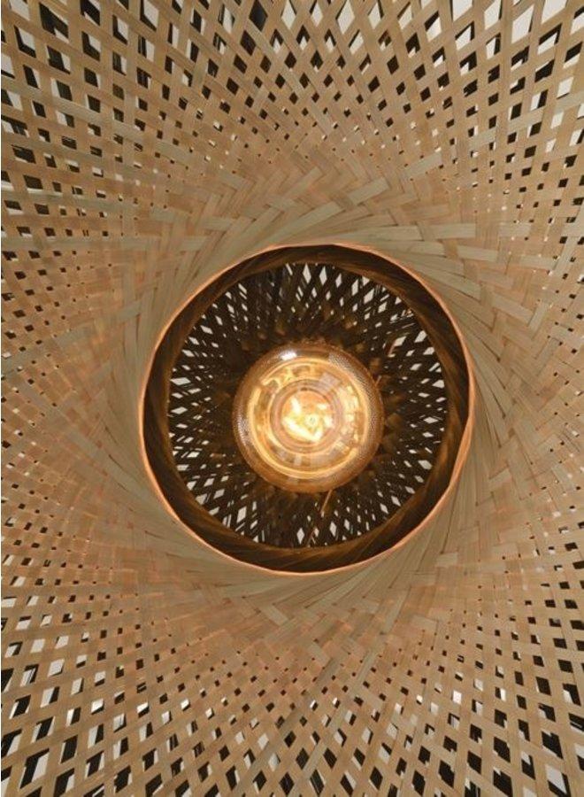 Wandlamp Kalimantan bamboo natural S (44x12)