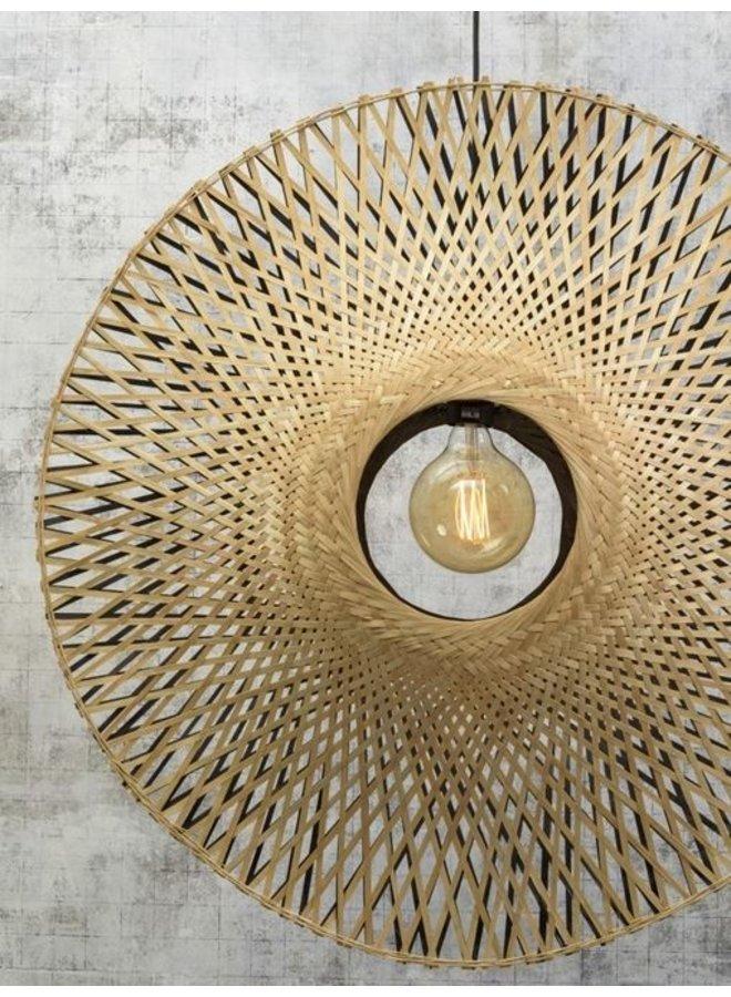 Hanglamp Kalimantan vertical naturel/black S