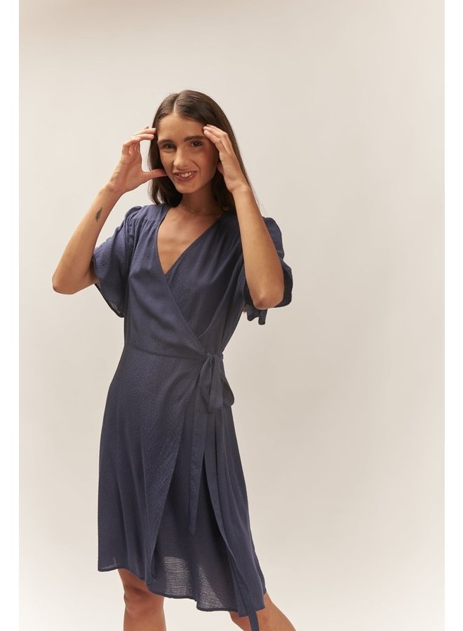 Jurk overslag Dianthus midnight blue