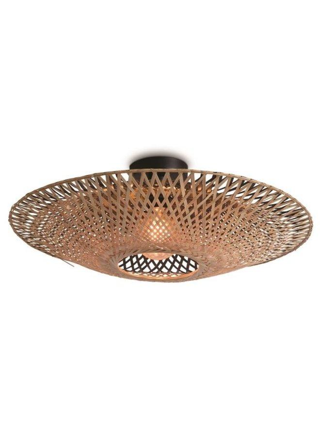 Plafondlamp Kalimantan black/naturel S