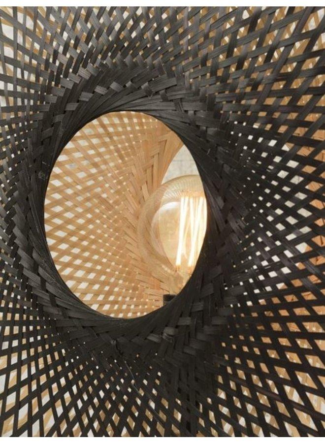 Tafellamp Kalimantan bamboo vertical black/naturel S