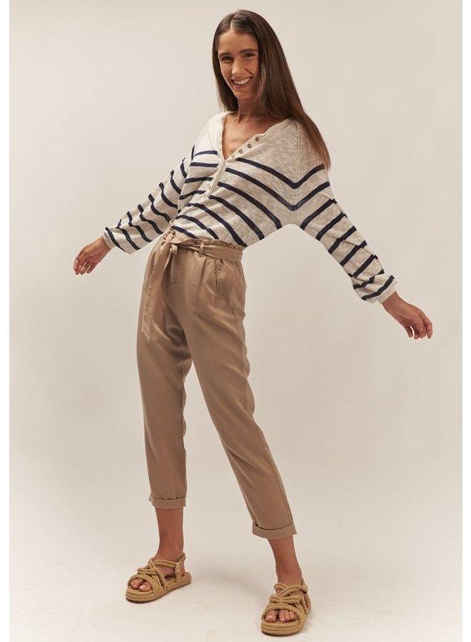 Top lange mouw Iberis navy stripes