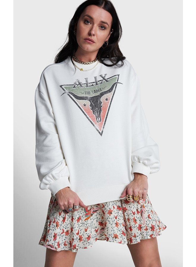 Sweater ladies knitted triangle sweater soft white