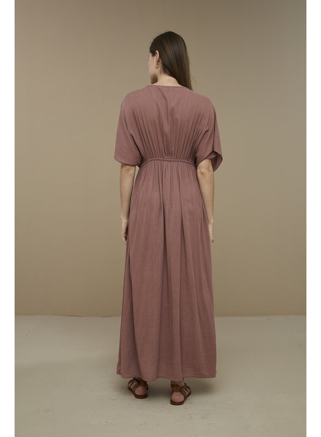 Jurk long dress wood rose
