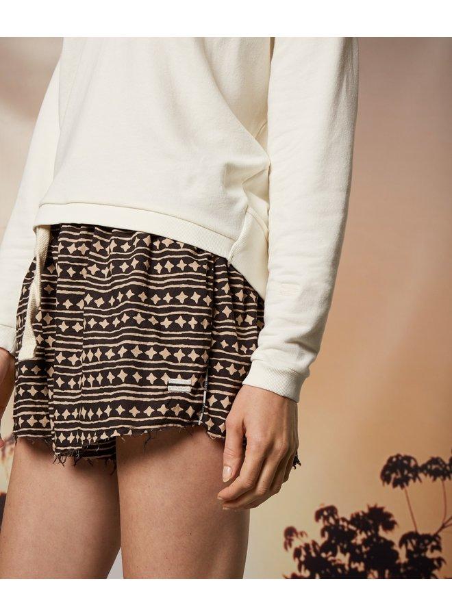 Broek short beach shorts stars soft black