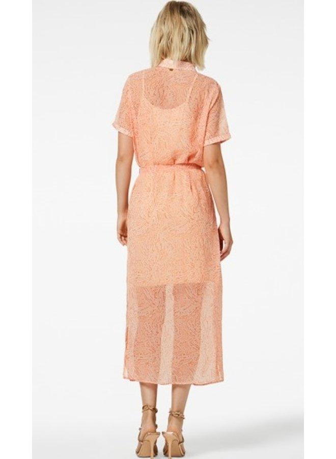 Jurk Harper midi dress peach
