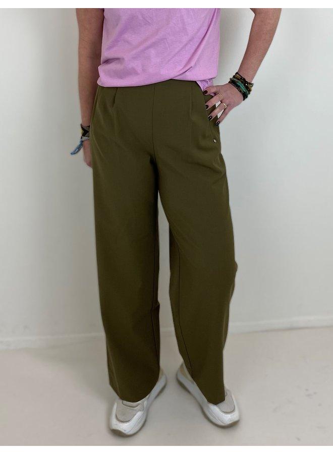 Broek Pantalone tucks olio