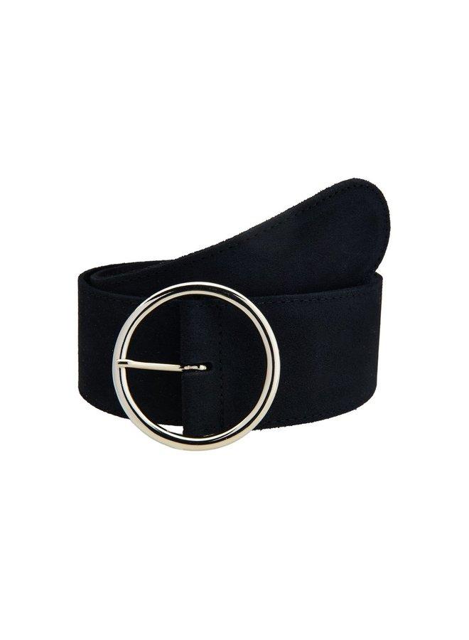 Riem suede belt Black