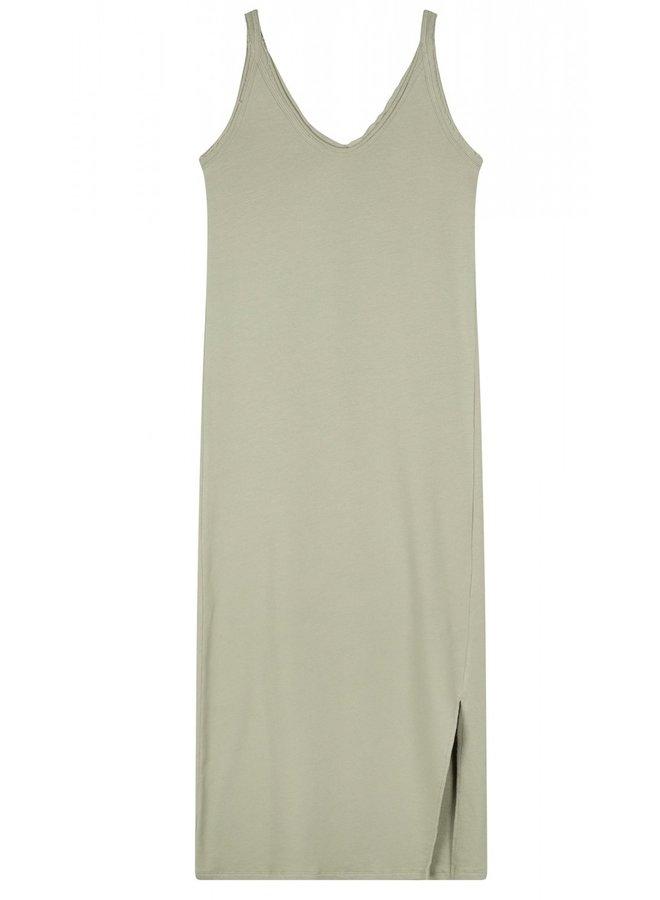 Jurk Strappy dress fleece pistache
