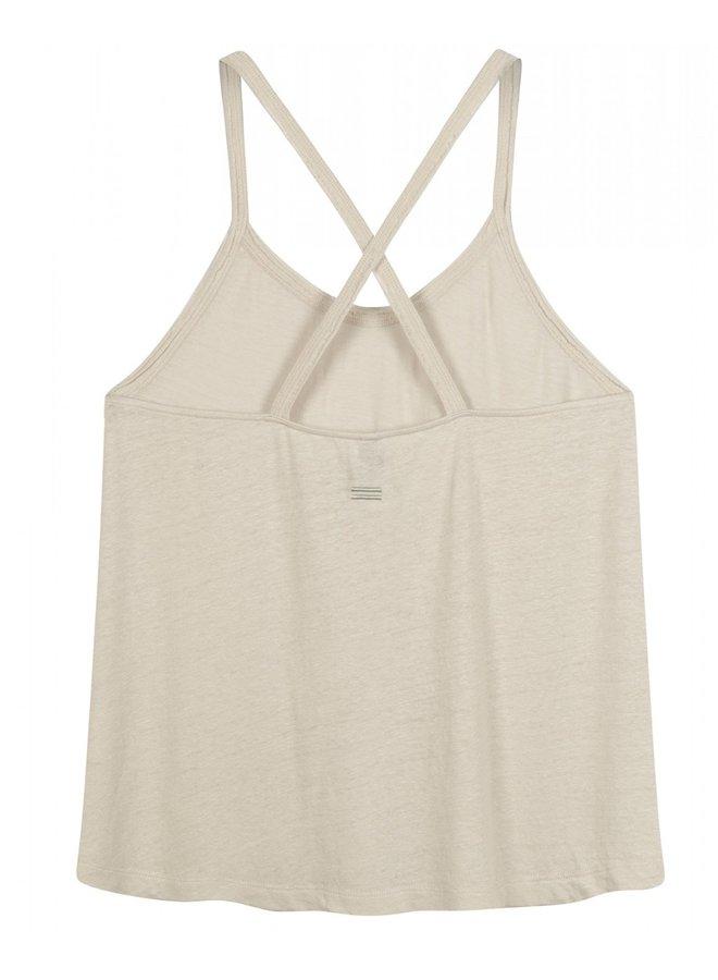 Top Crossback singlet linen silver white