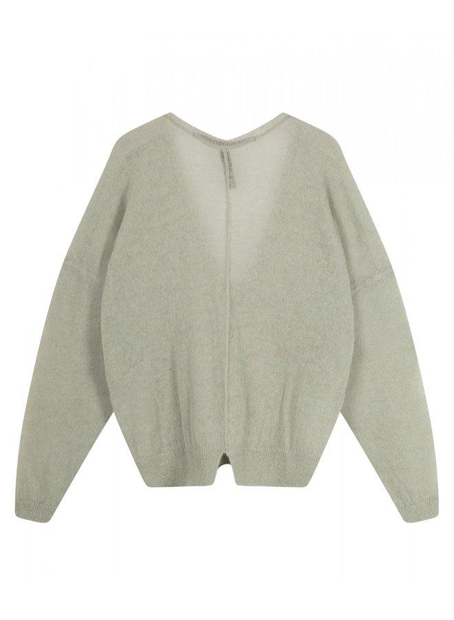 Trui Thin sweater v-neck pistache