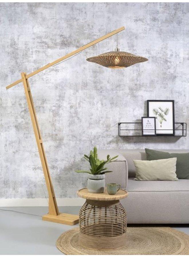 Vloerlamp Bali naturel/black M