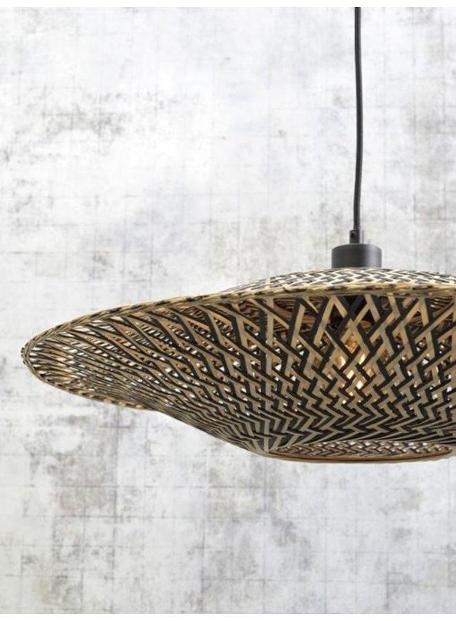 Hanglamp Bali black/naturel M