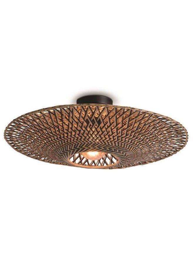 Plafondlamp Bali black/naturel M