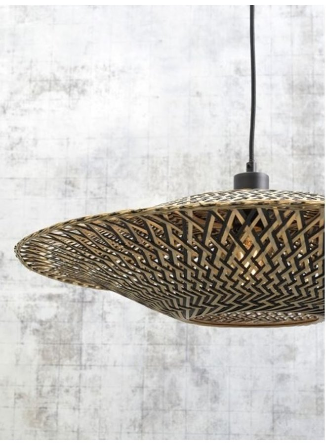 Hanglamp Bali black/naturel S