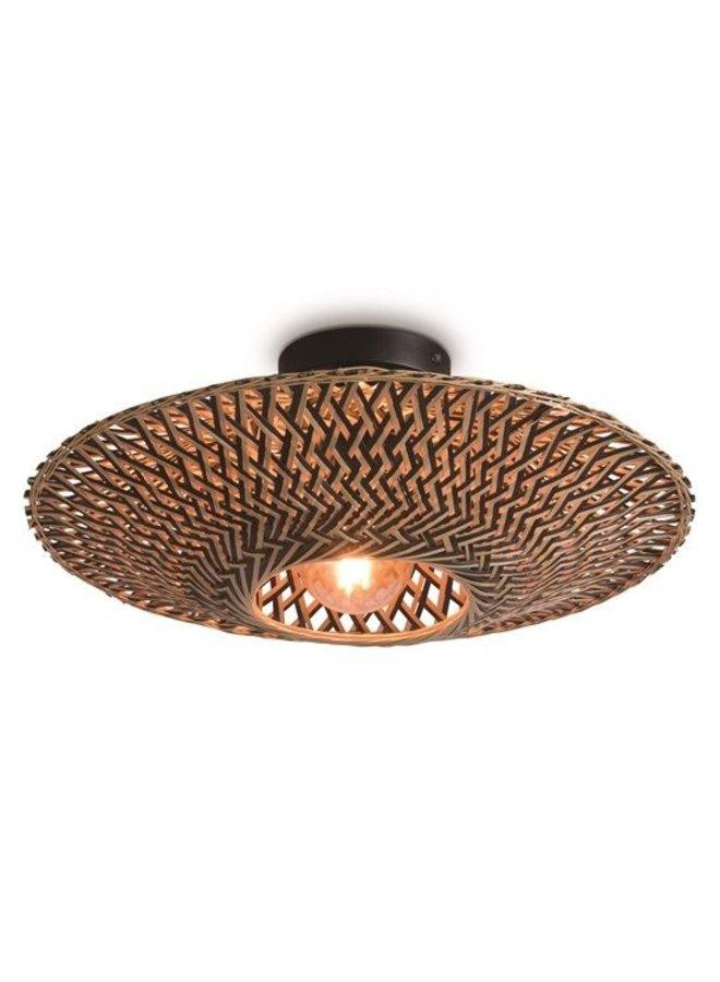 Plafondlamp Bali black/naturel S