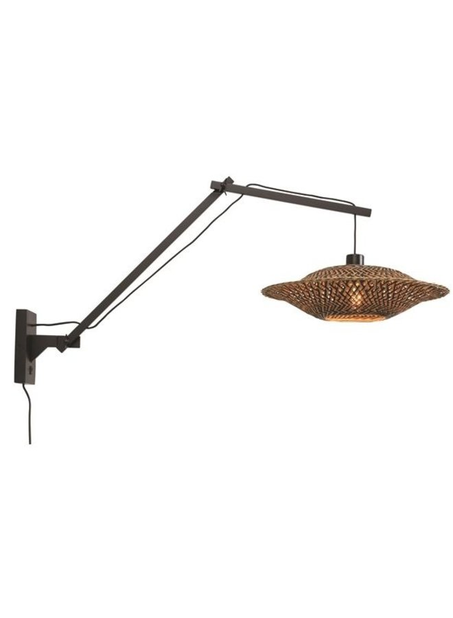 Wandlamp Bali black L (40x12)