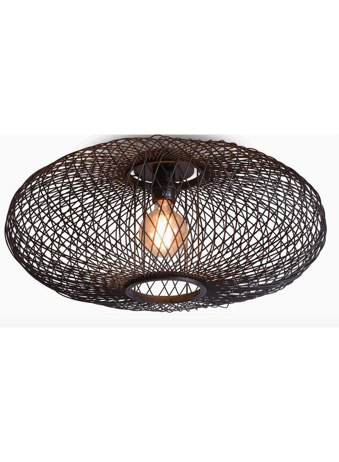 Plafondlamp Cango ellipse black